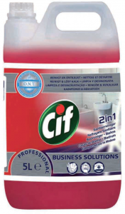 CIF Płyn do mycia łazienek 2w1 5L - Professional Washroom Cleaner